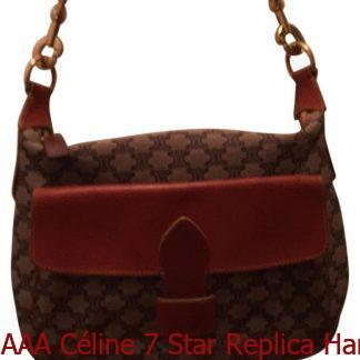 AAA Céline 7 Star Replica Handbag Brown Leather Canvas Hobo Bag celine  replica bag sale 52ff915eb1162