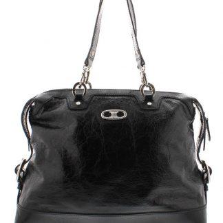 Best Cheap Céline Fake Distressed Handbag Black Patent Leather Shoulder Bag  celine phantom bag f66beffe492e9