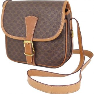 3c7765525d95 You re viewing  Best Cheap Céline Fake Macadam Brown Canvas and Leather  Purse Crossbody Shoulder Bag celine bag £219.30