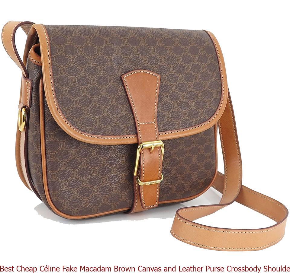 16d77c7e9dfa Best Cheap Céline Fake Macadam Brown Canvas and Leather Purse Crossbody  Shoulder Bag celine bag