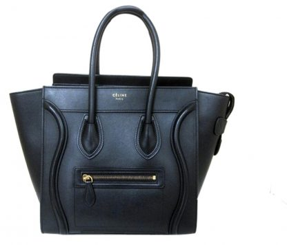 0593c050e81 Cheap Designer Handbags Céline Replica Luggage Smooth Calfskin Micro In  Black Leather Satchel high quality prada replica handbags