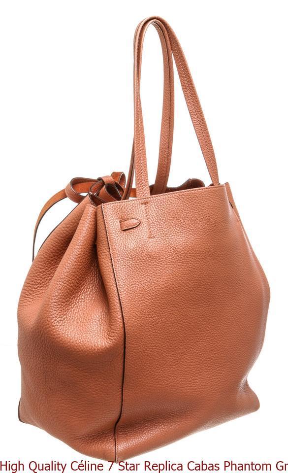40f9b9e03e16 High Quality Céline 7 Star Replica Cabas Phantom Grained 486863 Terracotta  Calfskin Leather Tote celine bag price