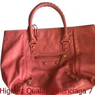 de2de0bbc010 Highest Quality Balenciaga 7 Star Replica Peach Leather Satchel balenciaga  replica shoulder bag ...