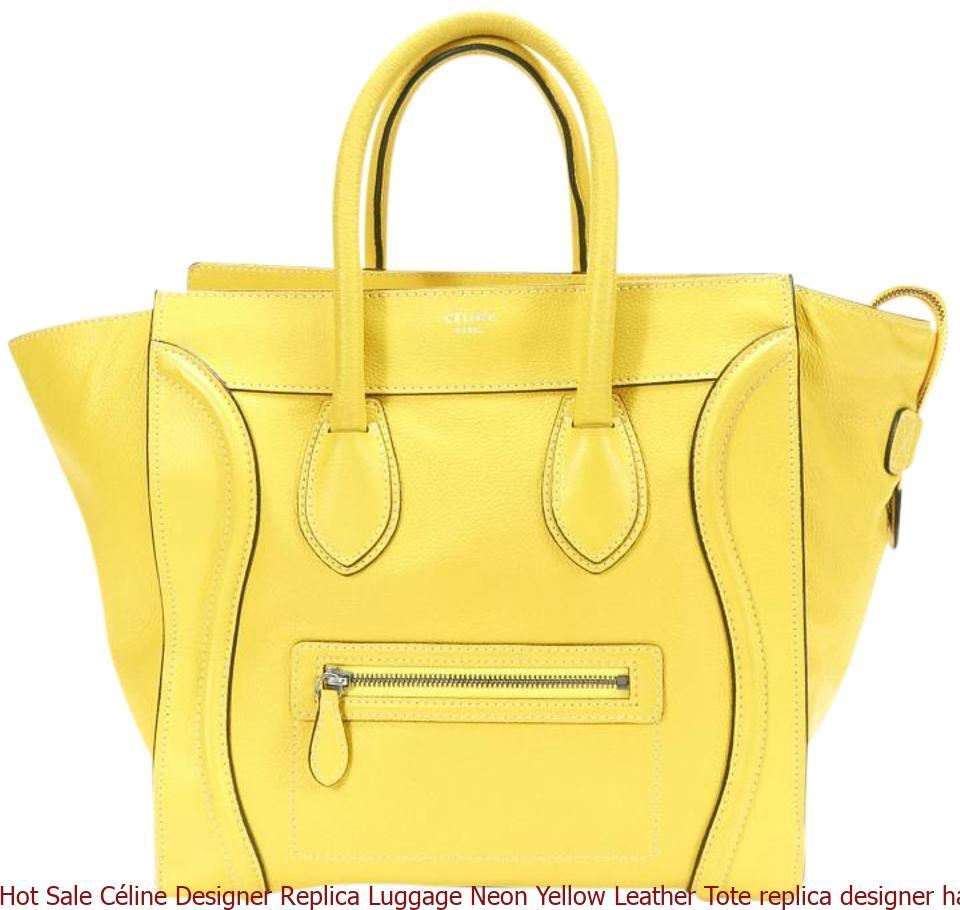 319ba8d5264e Hot Sale Céline Designer Replica Luggage Neon Yellow Leather Tote replica  designer handbags uk .