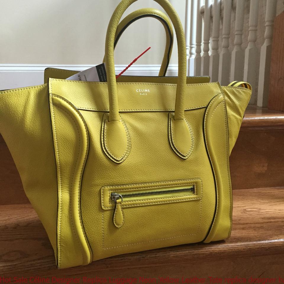 Hot sale c line designer replica luggage neon yellow for Replica design